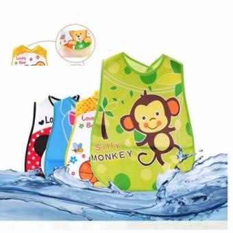 Girl PVC Waterproof Bibs Infant Baby Bibs PVC Saliva Towels for6~36 Month Set of 4 Assorted Character