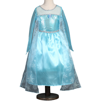 Girls Dress Elsa Anna Princess Dress With Crown Custom Cosplay
