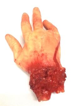 Halloween Costume Partyline Fake Latex 4 Fingers Scary Bloody HandParty Props