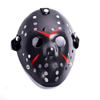 Halloween Horror Hockey Face Fancy Dress Helmet Costume Cosplay Mask Prop - intl
