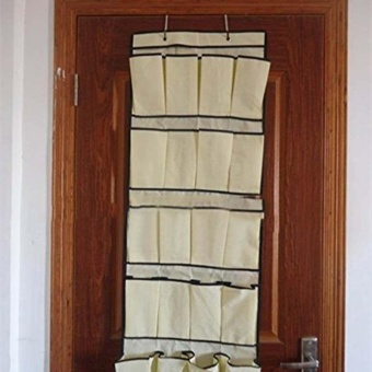 Hanging Storage 20 Pocket Over the Door Organizer Space Saver RackShoe Holder - intl