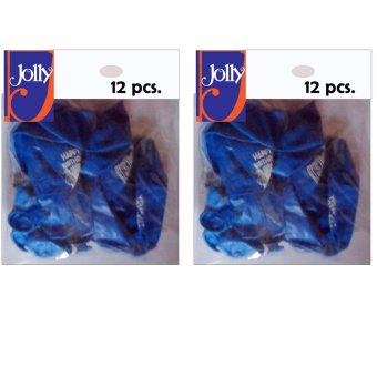 Happy Birthday Balloons 12`s Blue Set of 2