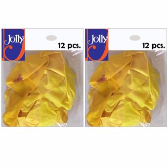 Happy Birthday Balloons 12`s Yellow Set of 2