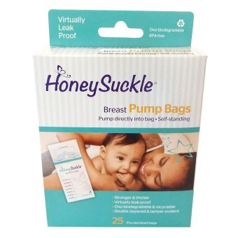 Honeysuckle Breast Pump Storage Bags, 25 bags