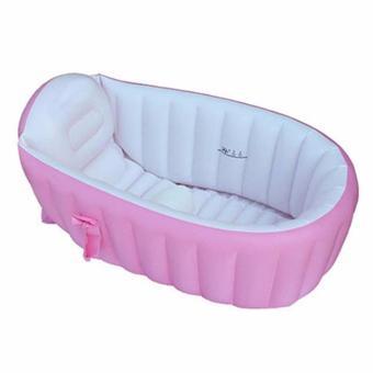 inflatable baby bath tub pink lazada ph. Black Bedroom Furniture Sets. Home Design Ideas