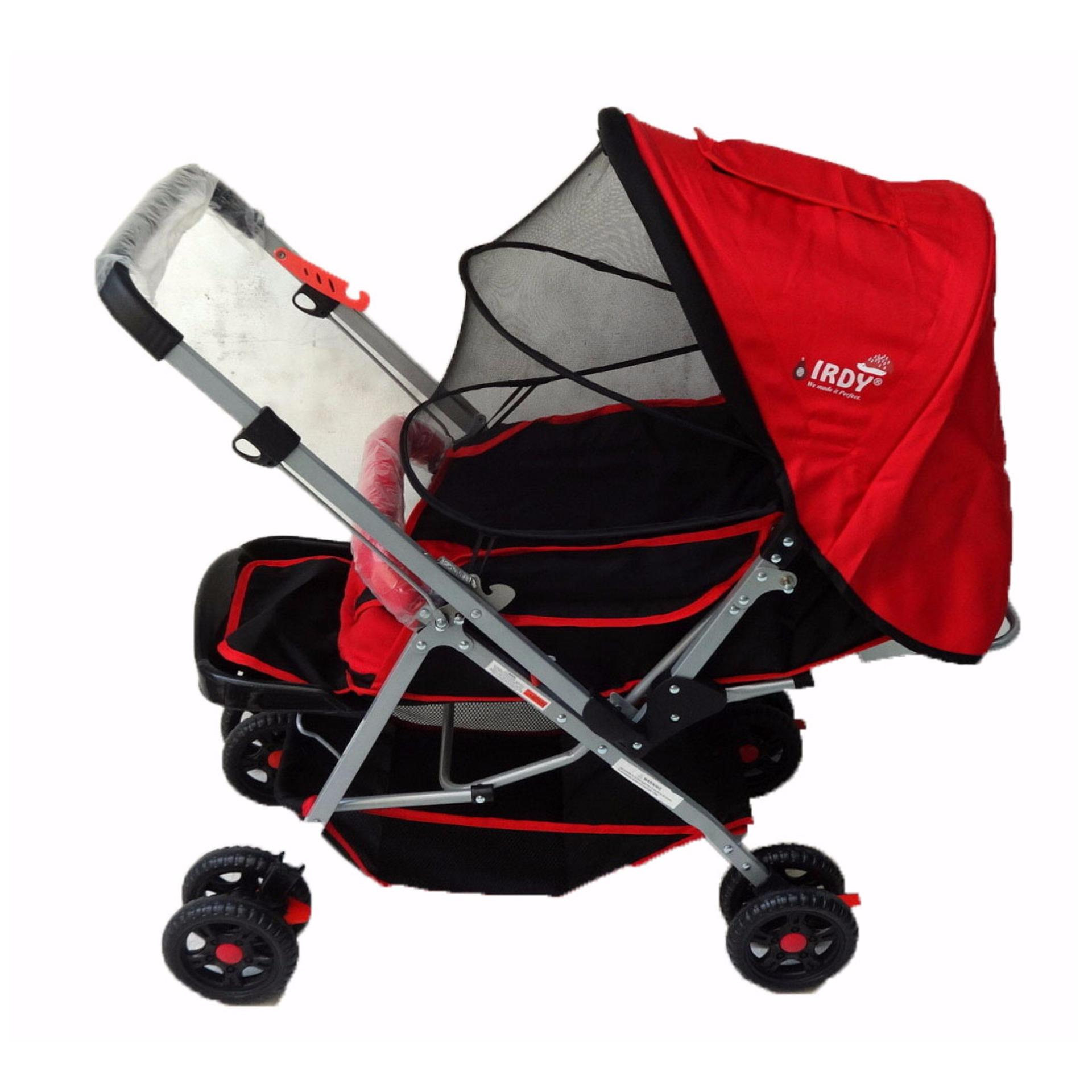 Crib for sale bacolod - Irdy S0829a Stroller With Mosquito Net Red