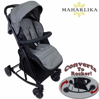 MK Folding Convertible baby stroller rocker for baby 0 to 3 years old GREY T609