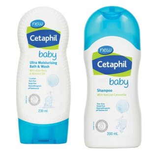 New Cetaphil Baby Ultra Moisturizing Bath and Wash 230ml And NewCetaphil Baby Shampoo 200ml
