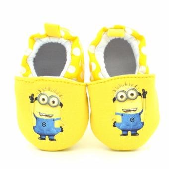 Newborn Toddler Baby Boys Girls Soft Skidproof Prewalkers SlippersShoes 0-18 months Minions