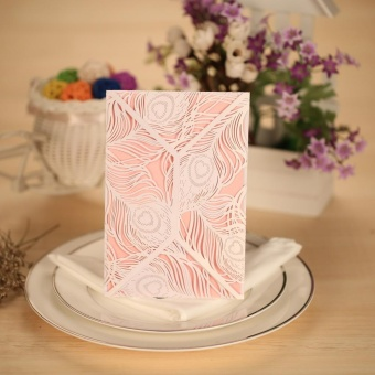Pearlescent Paper 10pcs Romantic Invitation Cards Set with 10pcsInner Sheets and 10pcs Envelopes Wedding Party Banquet Decoration(White) - intl