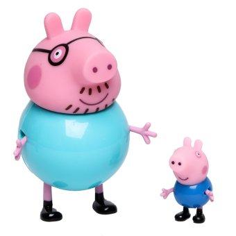 Peppa Pig Twin Pack Daddy Pig & George