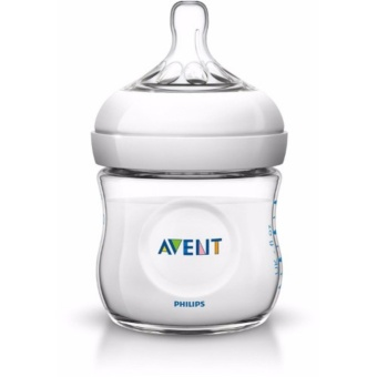 Philips Avent Natural Bottle 1X 0m+ 4oz 125ml SCF 690/13 SinglePack+ BPA (Clear)