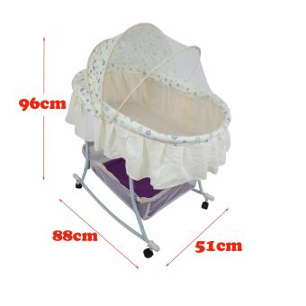 PHub WyonBaby Baby Cradle Bed Crib Rocker with Storage BasketYELLOW