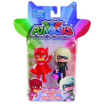 PJ Masks Figure Pack set Owlette and Moongirl