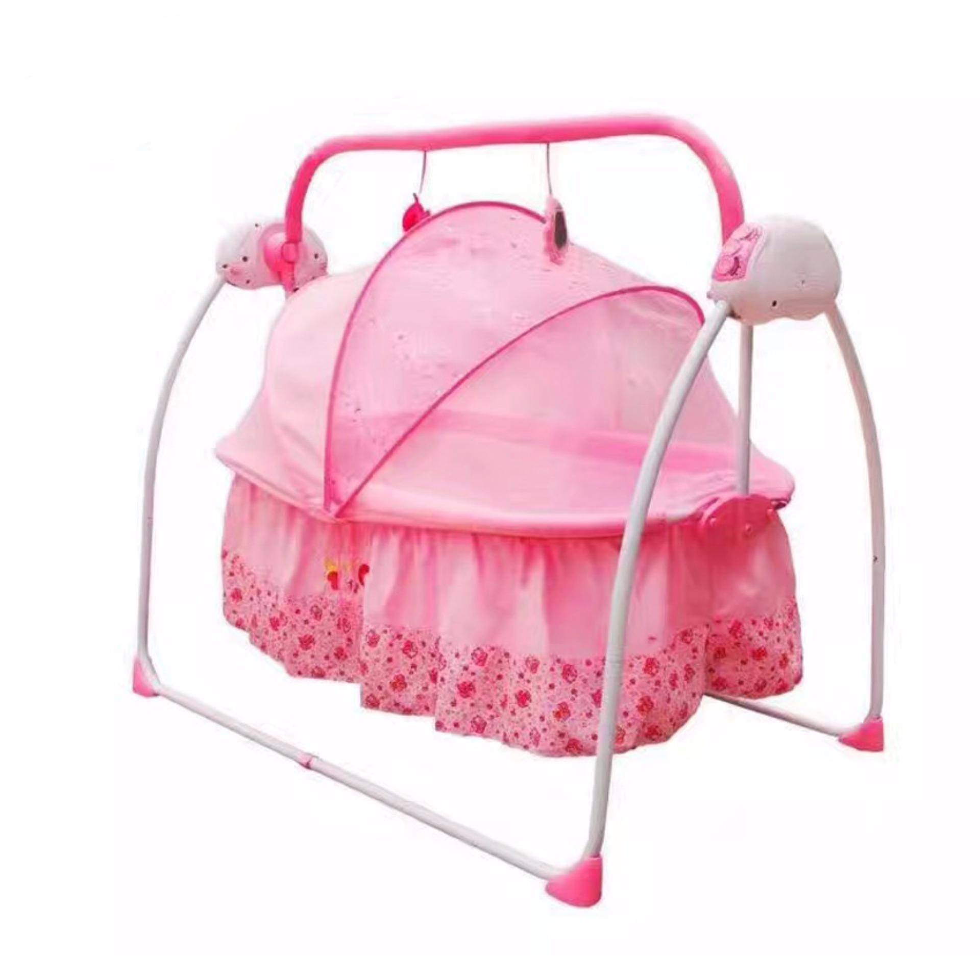 Rocking crib for sale philippines - Pretty In Pink Soothing Motions Baby Cradle Swing Pink
