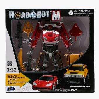 Road Bot M Corvette C6R & Hummer H3 Transforming Robot
