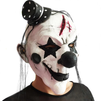 Scary Creepy Clown Mask for Halloween & cosplay - intl
