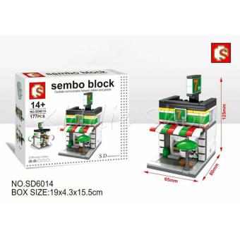 Sembo Block SD60194 7ELEVEN Shop Building Blocks Toy (177 PCSPARTICLES)
