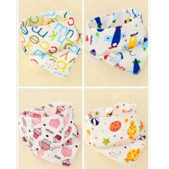 Snap Buttons Cotton Baby Bandana Drool Bibs Saliva Towel (1piece)
