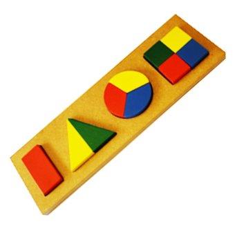 Tahanang Walang Hagdanan Geo Form Board Wooden Toy (Multicolor)