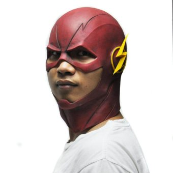 The Flash Mask DC Movie Cosplay Costume Prop Halloween Full HeadLatex Party Masks - intl