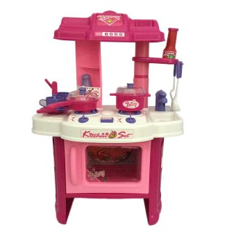 Toy collections kitchen play set pink lazada ph for Kitchen set for 4 year olds