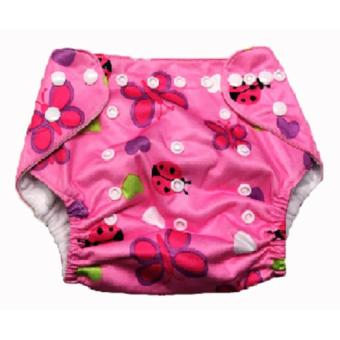 Washable Reusable Cloth Baby Diaper Without Insert- Lady Bug