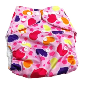 Washable Reusable Cloth Baby Diaper Without Insert- Pink Hearts