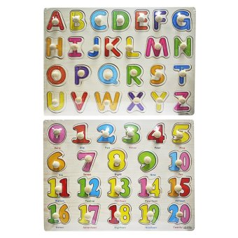 Wooden Alphabet A-Z and Wooden Numbers 0-20