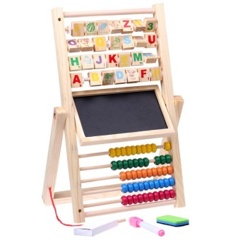 Wooden alphabet with numbers over plate rack multifunction Sketchpad