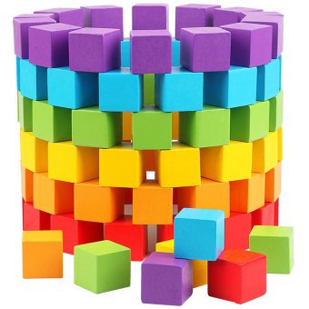 Wooden Building Blocks math cube building blocks