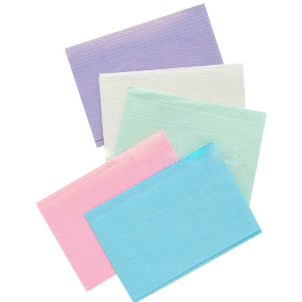 125 PCS Disposable Dental Bibs Saliva Pads Random Color