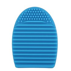 360DSC Cleaning MakeUp Washing Brush Silicone Brush Egg Board Cosmetic Clean Tools - Sky-Blue