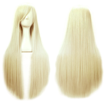 80 cm cosplay long straight hair extensions wig for masquerade party halloween christmas white. Black Bedroom Furniture Sets. Home Design Ideas