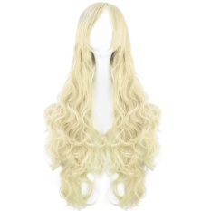 PHP 678 80cm 32inch Length Fashion Colorful Cosplay Long Curly Hair Extensions Wig for Masquerade Party Halloween Christmas ...