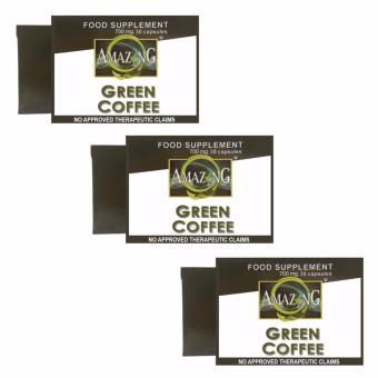 Amazing Food Supplement Green Coffee Bean Extract 700mg Capsules,Box of 30 Set of 3