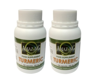 Amazing Food Supplement Turmeric 700mg Capsules Bottle of 100 Set of 2