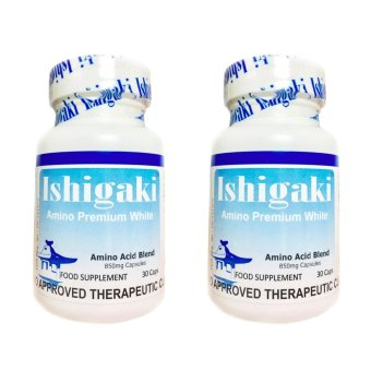 Authentic Japan Ishigaki Amino Premium White 850mg 30 Capsules,Bottle of 2 (New Label and FDA Approved)