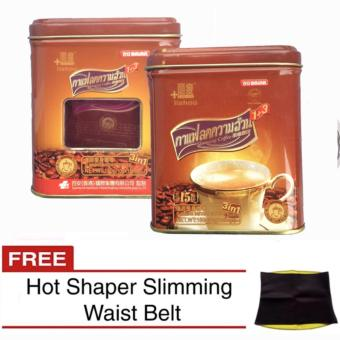 Baian Lishou Slimming Instant Coffee 10 grams x 15 sachet (Pack of2) with FREE Hot Shaper Slimming Belt