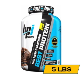 BPI Sports Best Protein 100% Lean Muscle Building Protein Shake - 5lbs - Chocolate Brownie