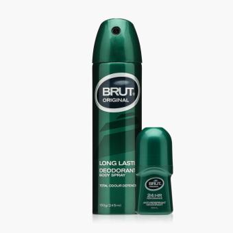 Brut Original Long Lasting Deodorant Body Spray and Anti-perspirant Deodorant Set