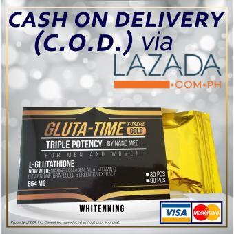GLUTA-TIME X-TREME GOLD NANO L-Glutathione 30 Caps (21-PCS-LEFT)