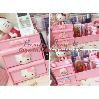 Hello Kitty Cosmetic Makeup Jewelry Organizer Storage