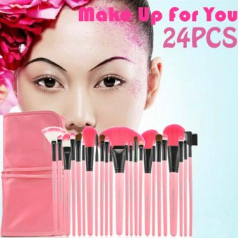 Make-Up For You Professional Cosmetic Makeup Brush 24-piece Set (Pink)
