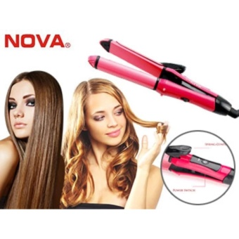 NOVA 2 in 1 Hair Straightener and Curler Professional Iron