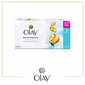 Olay Skin Whitening Bar Soap with Vitamin C 90g Pack of 3
