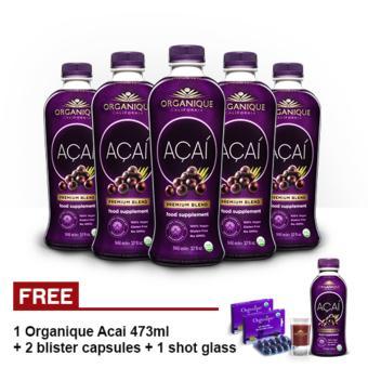 organique acai premium blend juice supplement 946ml set of