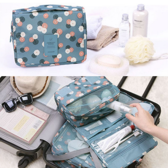 Portable cosmetic bag female travel folding toiletry bags