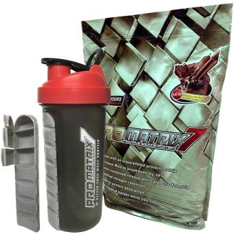 Promatrix 7 Multiple Source Protein with Pill Shaker 5lbs (Chocolate)