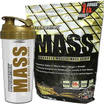 Promatrix Mass Advanced Muscle Mass Gainer 5lbs + 1lb Bonus with Free Shaker